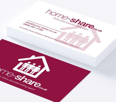 Home Business Card Mockup
